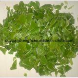 재생된 HDPE (녹색 작은 조각)