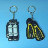 3D-ПВХ мягкий Keychains, высокое качество ПВХ ключ Holers, пользовательский ключ из ПВХ кольца