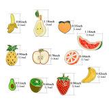 L'arancio dell'anguria della fragola del Kiwi dell'avocado della pesca del Apple dell'ananas della pera della banana appunta i Brooches