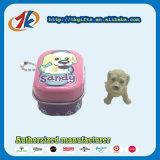 Fördernder Keychain quadratischer Zinn-Kasten mit Plastiktierspielwaren-Hundehersteller