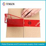 Fita de embalagem adesiva anti-contrafacção