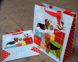 Saco de presente de papel de impressão personalizado de qualidade Saco de presentes de férias de aniversário