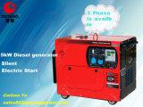 petits générateurs 5000W diesel avec les roues et la poignée