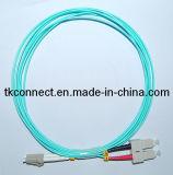 Sc-LC 50/125 Om3 Cable de fibra óptica dúplex
