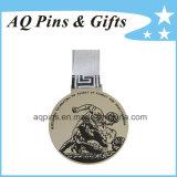 Andenken-Medaillen mit weißem gedrucktem Farbband
