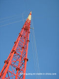 Galvanized Guy Mast Telecommunication Steel Tower