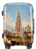 熱く新しいOEMプリントスーツケースのトロリー箱ABS/PCはトロリー旅行紡績工の荷物袋を印刷した