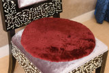 진짜 연약한 양가죽 둥근 의자 방석 시트 패드