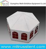 Алюминиевый диаметр 10m Вод-Пожар-Доказательства рамки Wedding шестиугольный шатер Pagoda