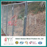 Chian 선 담이 담궈진 임시 체인 연결 Fence/50X50mm 최신에 의하여 직류 전기를 통한다