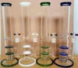 De regelmatige Rokende Pijp van het Glas met de Dubbele Kleuren Beschikbare 1200g van de Mengeling van de Schijven van de Kam van de Honing