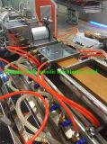 オンラインタイプ浮彫りになるローラーが付いているPE-WPCのDeckingの共押出しライン