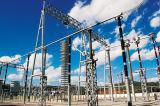 Estructura angular y tubular de la subestación para la línea de transmisión de la energía eléctrica
