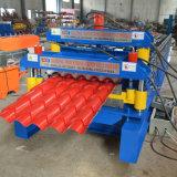 Tuile manuelle en acier glacée personnalisée de panneau de toit de couleur faisant la machine