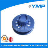De Aluminio anodizado azul girando las piezas con una buena calidad