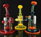 Tubo de água com tubo de vidro de perfil novo com copo de cor