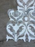 Arts de la mosaïque de lapin de marbre blanc et gris