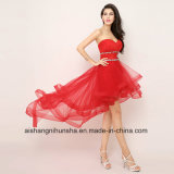 Baixa Alta Crystal Baile Robes Sweetheart Strapless Prom vestidos