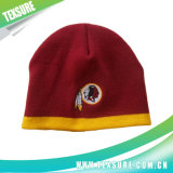 二色のアクリルの男女兼用の編まれた冬の暖かい帽子の帽子(011)