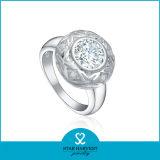 Chunk italiano anillo plata con CZ (R-0190)