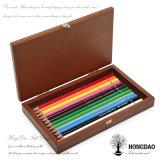 Hongdao Lujo Diseño Natural de madera de la caja de embalaje de la pluma