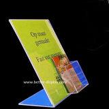 Placa de menu de restaurante de acrílico com suporte de cartão (BTR-I6030)