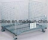 Contenitore saldato acciaio galvanizzato piegato accatastabile della rete metallica