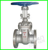 Válvula de porta industrial do disco da cunha da água do aço inoxidável