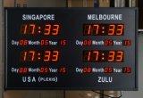 Singapur-Projekt Digitaluhr 2.3inch der LED-Für Innen