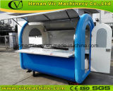 chariot bleu de nourriture recommandé par fabrication avec la conformité de la CE