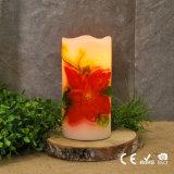 El pilar decorativo de la flor de la estación de resorte mira al trasluz velas sin llama verdaderas de la flor de la cera LED