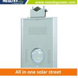 Luz de calle solar al aire libre de la iluminación LED del diseño único integrado 5W-120W