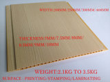 Il colore di legno che lamina il soffitto del PVC copre di tegoli la decorazione interna Materirial (RN-46) della Camera