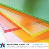 El color blanco/Leche Silk-Printed/vidrio laminado para la construcción/cristal decorativo