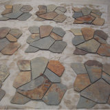 중국 다색 슬레이트 Flagstone 마루 매트 메시 돌 (SMC-R070)