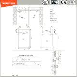 Bâti réglable d'acier inoxydable et glace Tempered du bâti 6-12 d'aluminium glissant la pièce de douche simple, pièce jointe de douche, cabine de douche, salle de bains, écran de douche
