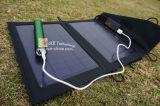 Chargeur solaire portable Pack de 7 watts avec flash LED et éclairage de la sauvegarde de batterie au lithium pour téléphone mobile