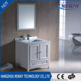 高品質の白い木製の陶磁器の洗面器の浴室の虚栄心のキャビネット