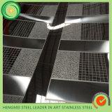 壁の建物の装飾のために終わる黒いステンレス鋼シートのヘアライン