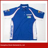T-shirt estampé fait sur commande de polo de collier de transfert thermique (P39)