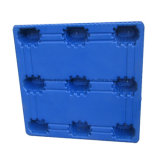 Pálete lisa plástica moldada HDPE/PP forte do armazém da indústria