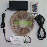 Светодиод 5 м газа комплект освещения с 150 светодиодный RGB SMD5050, водонепроницаемый, 24 клавиш IR+12 В источник питания (RM-SK-5050RGB30W--24 КА)