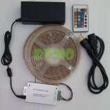 набор с 150 СИД RGB SMD5050, водоустойчивым, 24 электропитания света прокладки 5m СИД иК Controller+12 v ключей (RM-SK-5050RGB30W--24KA)