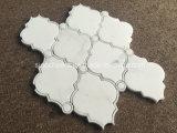 Мозаика белого мраморный ромбовидного узора Bianco водоструйная для плитки стены