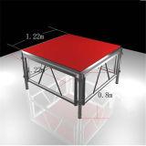 Этап согласия напольного подиума переклейки индикации деревянного алюминиевого алюминиевый напольный