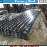 Folha galvanizada corrugada material de construção da telhadura da chapa de aço