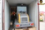 Novo tipo capacidade de carga do carregador 1ton da parte frontal do lobo do carregador da roda para a exploração agrícola