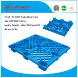 Estándares de la UE 1200*1000*140mm palets de plástico de HDPE de nueve pies de 4 vías lado Sigle bandeja de plástico (ZG-1210C)
