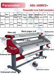 le lamineur froid automatique de 160cm, laminent à froid pour rouler le lamineur pour le papier d'imprimerie et le stratifié de photo