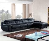 Alta qualidade L moderno sofá do couro da forma (B. 911)